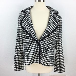 Emma James Houndstooth plaid Blazer Women Size 14